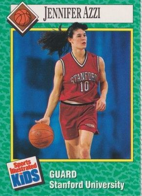 Jennifer Azzi Stanford Cardinal 1990 Sports Illustrated for Kids Rookie Card