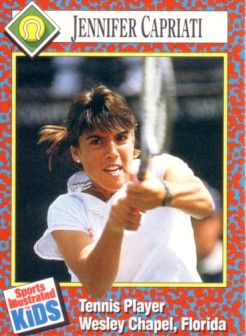 Jennifer Capriati 1991 Sports Illustrated for Kids tennis Rookie Card
