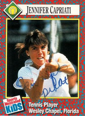 Jennifer Capriati autographed 1991 Sports Illustrated for Kids tennis Rookie Card