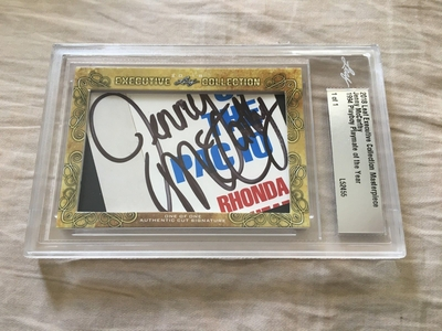 Jenny McCarthy 2018 Leaf Masterpiece Cut Signature certified autograph card 1/1 JSA