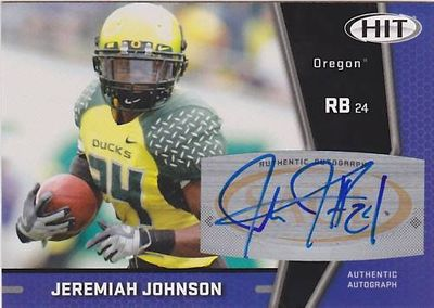 Jeremiah Johnson Oregon Ducks certified autograph 2009 SAGE card