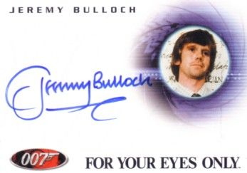 Jeremy Bulloch certified autograph James Bond 007 For Your Eyes Only card A90