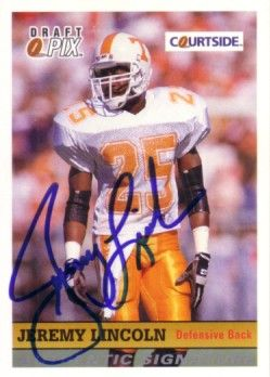 Jeremy Lincoln Tennessee certified autograph 1992 Courtside card