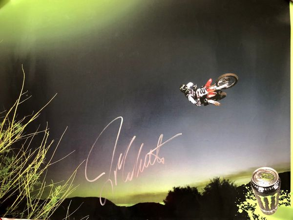 Jeremy McGrath autographed motocross or supercross 18x24 Monster Energy poster