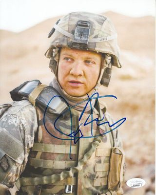 Jeremy Renner autographed The Hurt Locker 8x10 movie photo (JSA)