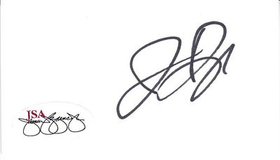 Jermaine Dye autographed business card (cut signature) JSA