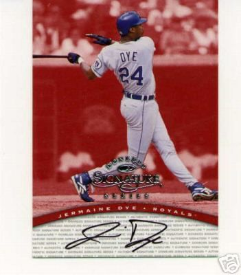 Jermaine Dye certified autograph Kansas City Royals 1998 Donruss card