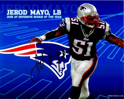 Jerod Mayo autographed New England Patriots 8x10 photo