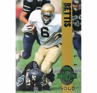 Jerome Bettis Notre Dame 1993 Classic 4 Sport Gold Card 1