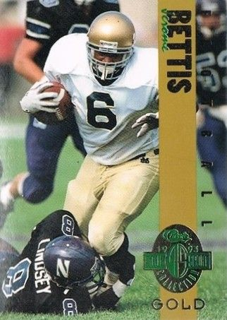 Jerome Bettis Notre Dame 1993 Classic 4-Sport Gold card (1 of 3900)