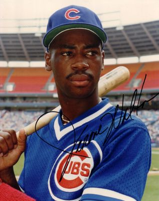 Jerome Walton autographed 8x10 Chicago Cubs photo