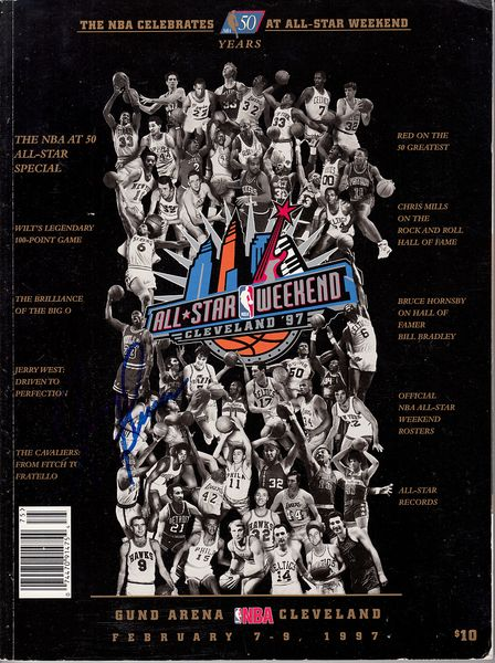 Jerry Lucas autographed NBA 50 Greatest Players 1997 NBA All-Star Game Weekend program