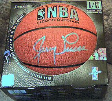 Jerry Lucas autographed Spalding NBA basketball