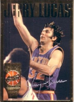 Jerry Lucas certified autograph New York Knicks Action Packed Hall of Fame card