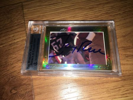 Bill Walsh and Jerry Rice 2013 Leaf Masterpiece Cut Signature certified autograph card 1/1 49ers JSA