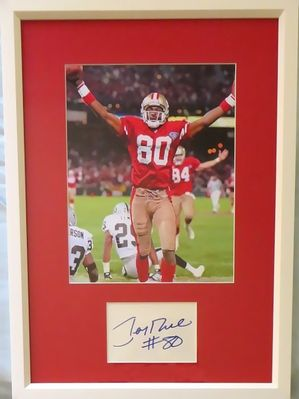 Jerry Rice autograph matted and framed with NFL Touchdown Record San Francisco 49ers 8x10 photo