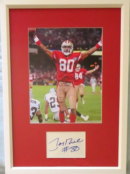 Jerry Rice autograph matted & framed with NFL Touchdown Record San Francisco 49ers 8x10 photo