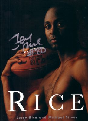 Jerry Rice autographed coffee table photo book