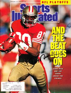 Jerry Rice autographed San Francisco 49ers 1990 Sports Illustrated