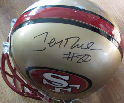 Jerry Rice autographed San Francisco 49ers full size authentic Riddell Pro Line game model helmet (PSA/DNA)