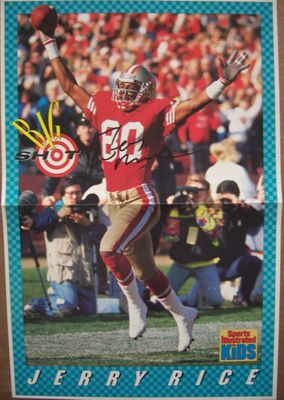 Jerry Rice autographed San Francisco 49ers Sports Illustrated for Kids mini poster