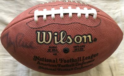 Jerry Rice autographed Wilson NFL game model leather football