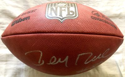 Jerry Rice autographed Wilson NFL Duke game model leather football (JSA)
