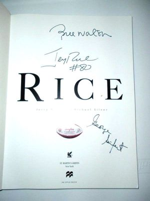 Jerry Rice Bill Walsh George Seifert autographed RICE 49ers coffee table photo book
