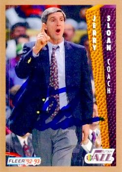 Jerry Sloan autographed Utah Jazz 1992-93 Fleer card