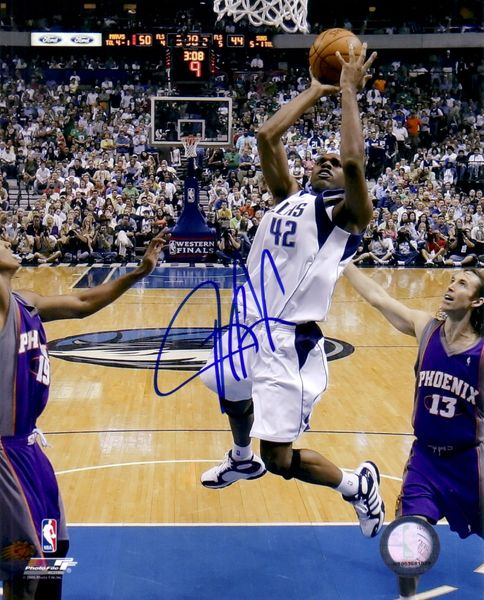 Jerry Stackhouse autographed Dallas Mavericks 8x10 photo