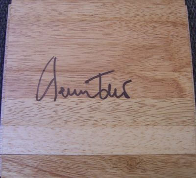 Jerry West autographed 6x6 basketball hardwood floor
