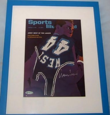 Jerry West autographed Los Angeles Lakers UDA Sports Illustrated cover matted and framed