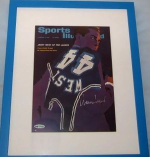 Jerry West autographed Los Angeles Lakers Sports Illustrated cover matted & framed UDA