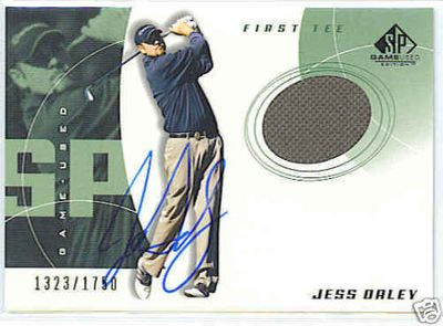 Jess Daley certified autograph worn shirt 2002 SP Golf card
