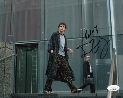 Jesse Eisenberg autographed The Social Network 8x10 movie photo inscribed Best (JSA)