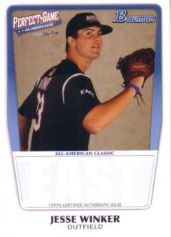Jesse Winker 2011 Perfect Game Topps Bowman Rookie Card (AFLAC)