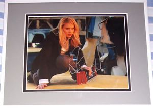 Jessica Alba autographed Fantastic Four 8x10 movie photo matted & framed