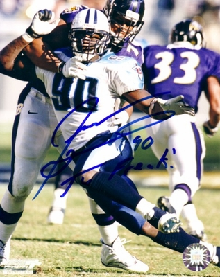 Jevon Kearse autographed Tennessee Titans 8x10 photo inscribed The Freak!