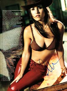 Jillian Barberie autographed FHM full page bikini photo