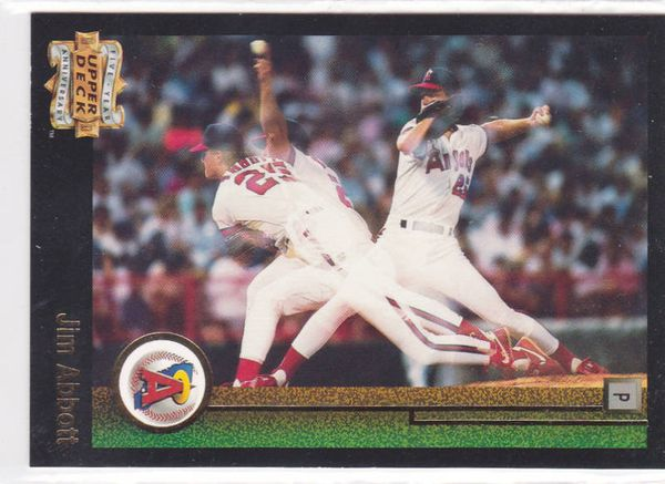Jim Abbott 1993 Upper Deck Fifth Anniversary insert card