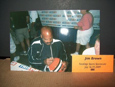 Jim Brown autographed Cleveland Browns full size helmet inscribed HOF 71