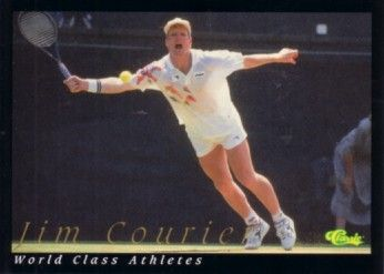 Jim Courier 1992 Classic World Class Athletes card