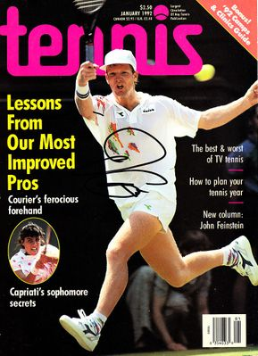 Jim Courier autographed 1992 Tennis magazine cover