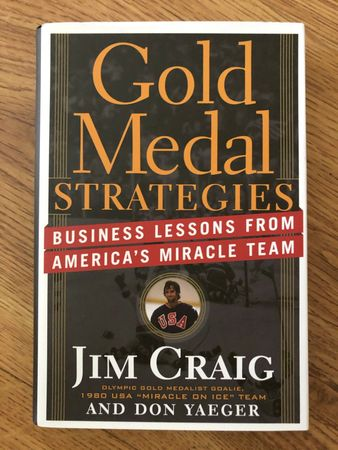 Jim Craig autographed Gold Medal Strategies hardcover book