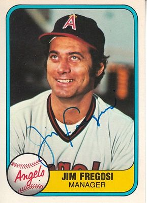 Jim Fregosi autographed Angels 1981 Fleer card