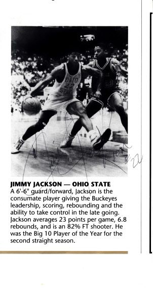 Jim Jackson autographed Ohio State Buckeyes basketball program cut signature