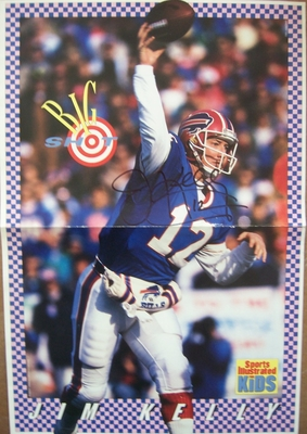 Jim Kelly autographed Buffalo Bills Sports Illustrated for Kids mini poster