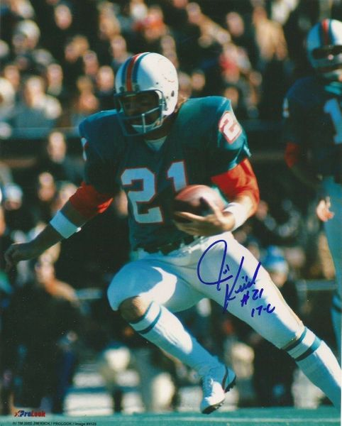 Jim Kiick autographed Miami Dolphins 8x10 photo