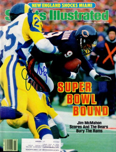 Jim McMahon autographed Chicago Bears 1986 Sports Illustrated