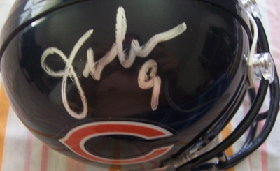 Jim McMahon & Mike Singletary autographed Chicago Bears mini helmet